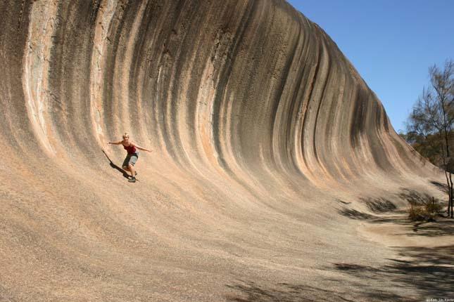Wave Rock, hullámszikla Ausztráliában