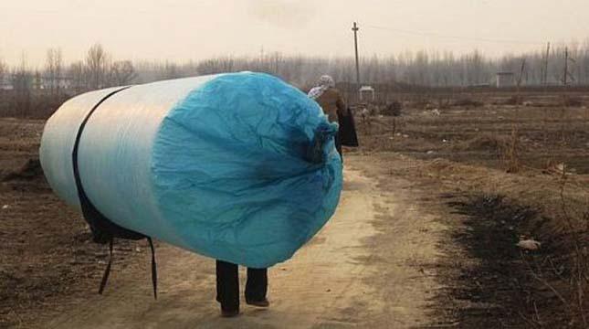 Zsákokban lopják a földgázt Kínában