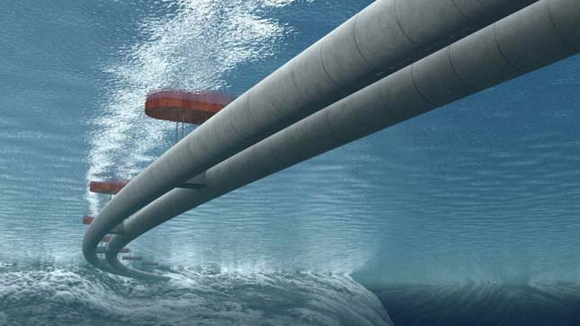 Víz alatt lebegő alagút