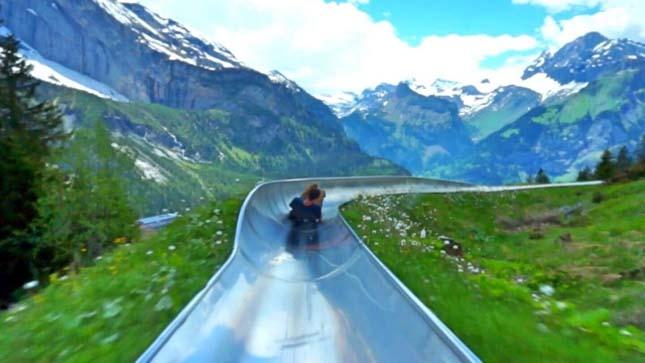 Bobpálya az Alpokban