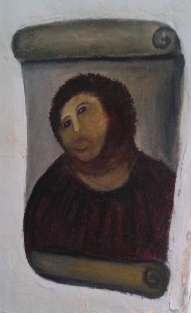 Bundás Jézus freskó