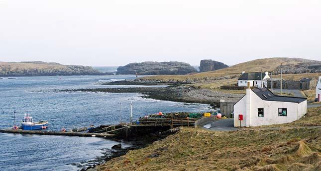 Egy ki skót sziget egyetlen iskolása