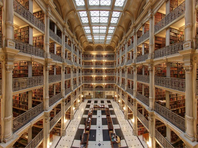 George Peabody Library, Baltimore, USA