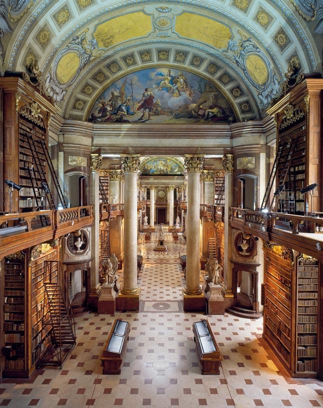 Osztrák Nemnzeti Könyvtár, Bécs, Ausztria
