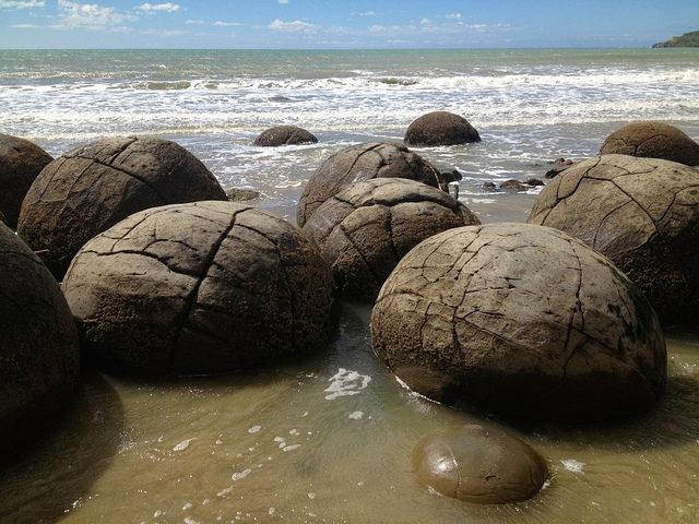Moeraki sziklák