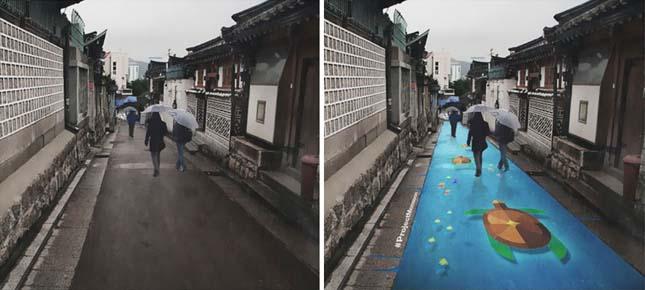 Esőre előtűnő festmények
