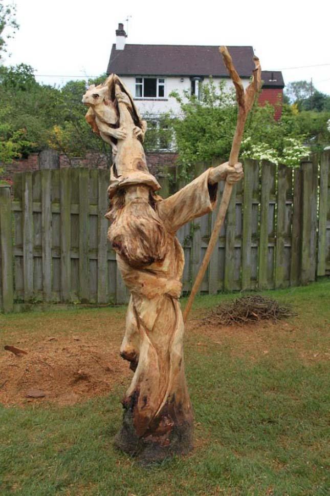 Láncfűrésszel készített szobrok