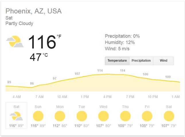 USA hőség
