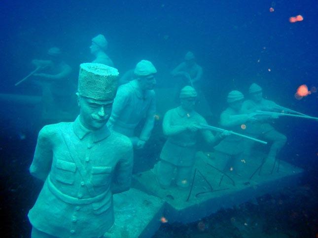 Vízalatti múzeum Törögországban