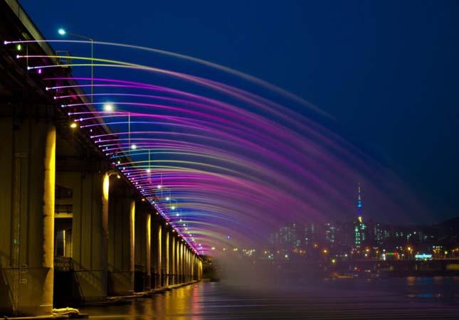 A szökőkutakkal teli híd a Banpo híd, Dél Korea6