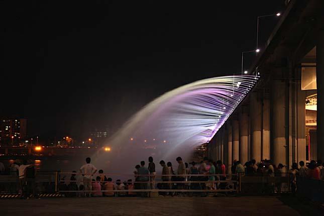 A szökőkutakkal teli híd a Banpo híd, Dél Korea8