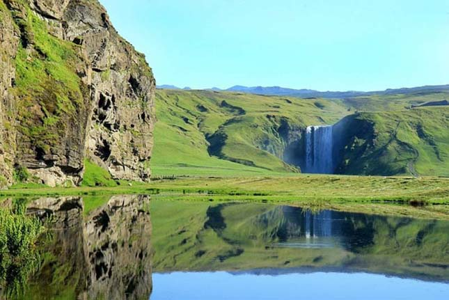 Skougafoss Falls, Dél-Izland