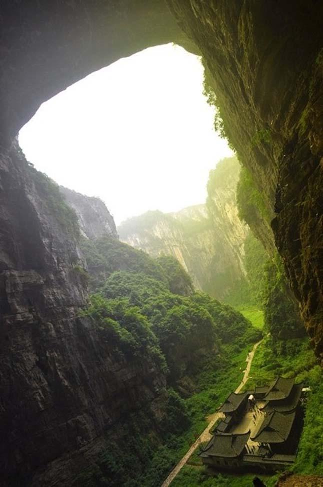 Wulong karszt táj Kínában.