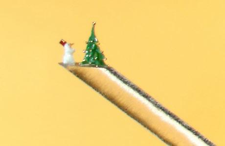 Karácsonyi jelenet egy ló szőrén