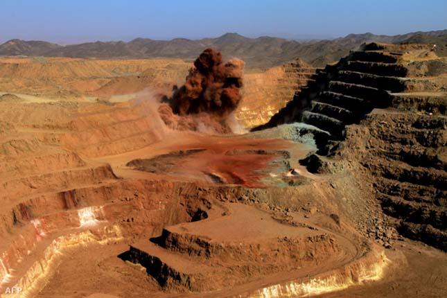 Külszíni aranybánya Szudánban