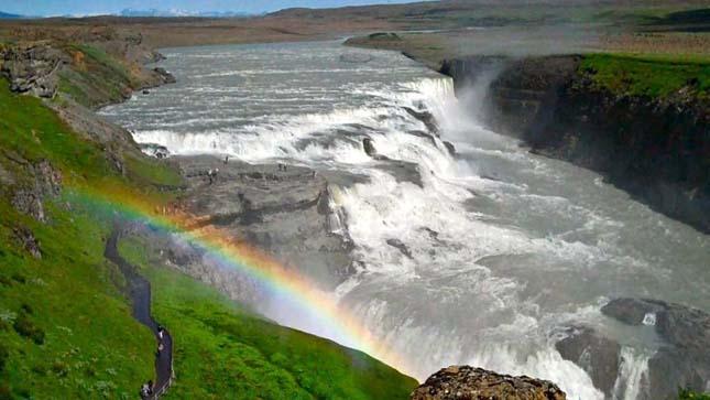 IGullfoss vízesés, Izland