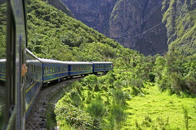 A Machu Picchu vonat, Dél-Amerika