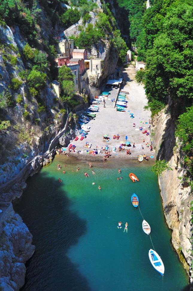 Furore fjord, Olaszország