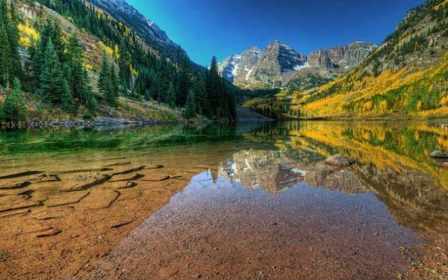 Maroon Bells hegyi tó, Colorado