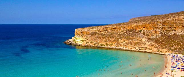 Rabbit Beach, Lampedusa, Olaszország