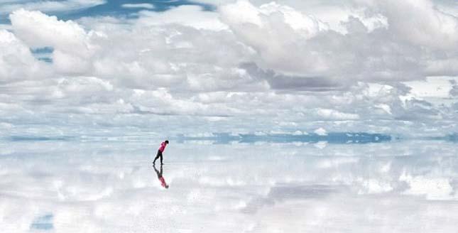 Salar de Uyuni a világ legnagyobb tükrei Bolíviában