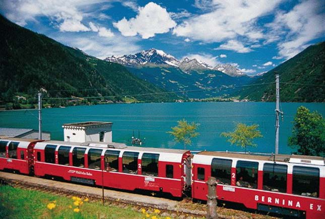 Albula-Bernina railway line, Switzerland