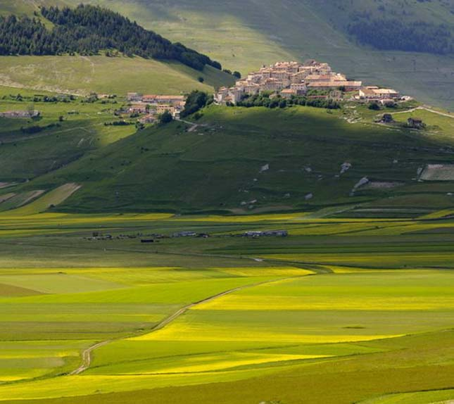 Castelluccio falu, Olaszország
