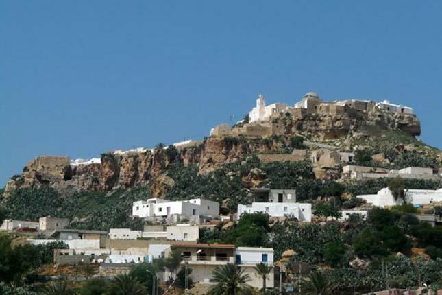 Takrouna kis falu, Tunézia