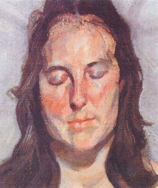 """""""Woman with Eyes Closed"""" by Lucian Freud"""