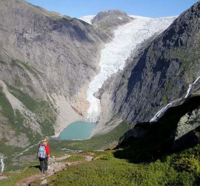 Briksdal Gleccser, Norvégia