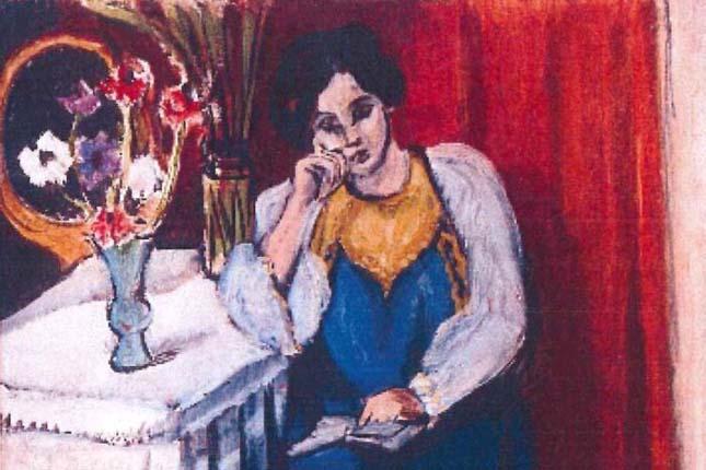 """""""La Liseuse en Blanc et Jaune"""" by Henri Matisse"""