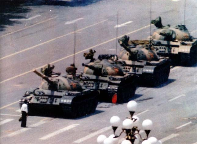 Tienanmen téri tüntető (Jeff Widener, 1989)