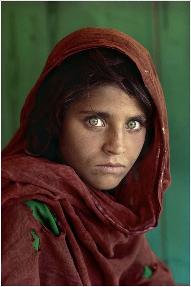 Afgán lány (Steve McCurry, 1984)