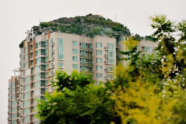 Villa egy pekingi lakóház tetején