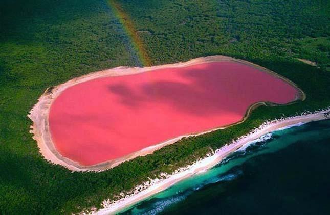 Rózsaszín tó - Ausztrália