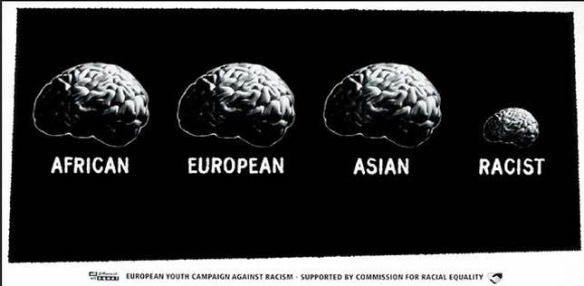rasszizmus ellenes hirdetés