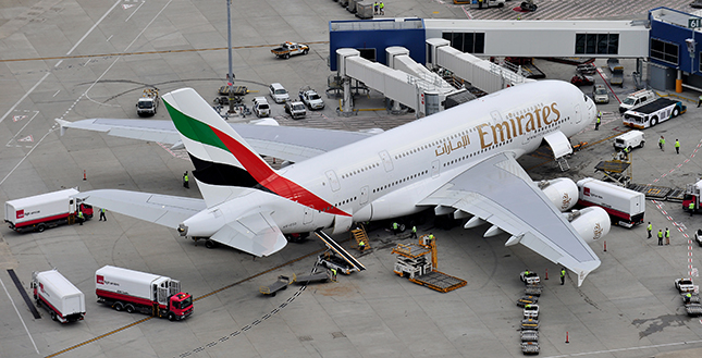 Emirates A380 operating into Australia for the very first time.